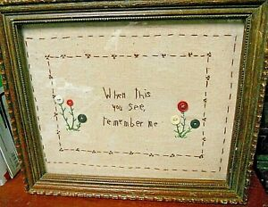 "Wall Decor,Mixed Media ""When this You See, Remember Me"" framed art"