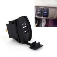 1PC 12-24V 3.1A Dual LED USB Car SUV Power Supply Charger Port Socket Waterproof