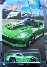 2017 Hot Wheels Forza Motor Sports 2013 SRT Viper Green Walmart Exclusive