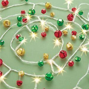 10 Ft LED Lighted Jingle Bells Cordless Christmas Garland