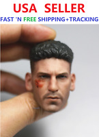CUSTOM 1/6 Scale Battle Damaged Jon Bernthal Punisher Frank Castle Head Sculpt