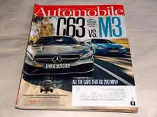 AUTOMOBILE June 2015 Carrozze Rivista Mercedes Benz AMG C63 vs BMW M3, 321.9km /