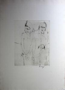 BRUNO BRUNI - Paar (1963). Handsignierte Radierung, Griffelkunst.