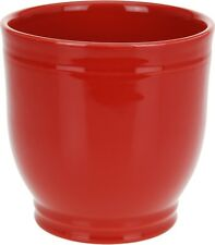 Stoneware 16cm Red Flower Pot. Ceramic Flower Pot Bright Red Plant Pot