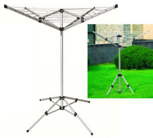 4 ARM ALUMINIUM ROTARY AIRER DRYER CLOTHES STAND FREE STANDING CARAVAN 20 METER