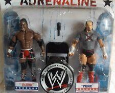 WWE - E. Burke + CM Punk Figuren-Set+Zubehör, ca.18 cm Wrestling-Neu,OVP,RARITÄT