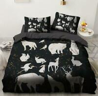 3D White Animal Bear Elk Wolf KEP6245 Bed Pillowcases Quilt Duvet Cover Kay