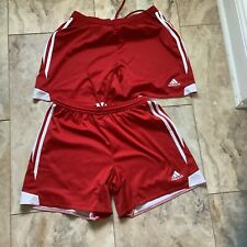 Adidas Climacool Red/ White Stripe Soccer Shorts Teens/ Womens Size M