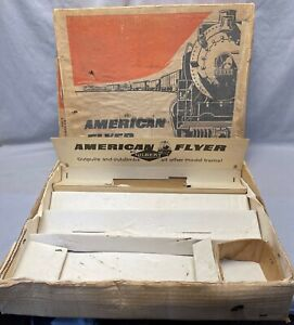 Vintage RARE S Scale #20410 American Flyer ORIGINAL BOX and INSERTS ONLY - FC