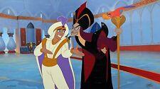 Original Walt Disney Aladdin Jafar Iago Limited Edition Cel, Deception