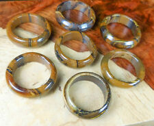 Tigers Eye Ring Natural Gemstone Band GG15 Healing Crystals and Stones Tiger Eye