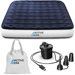 Active Era® Premium King Size Camping Air Bed with USB Rechargeable Pump and Bag