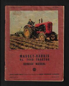 MASSEY-HARRIS 744D TRACTOR SERVICE MANUAL OCTOBER 1952