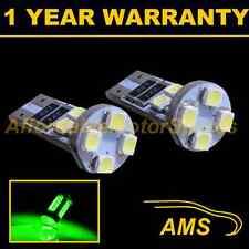 2X W5W T10 501 CANBUS ERROR FREE GREEN 8 LED INTERIOR COURTESY BULBS IL101601