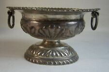 Antique 19th Century Austro-Hungarian ? or Polish ? Cyrillic Silver Salt Cellar