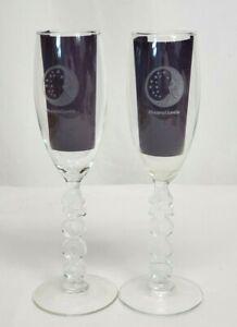 Vintage P&G Proctor & Gamble MILLENNIUM 2000 CHAMPAGNE FLUTES Set of 2 Glasses