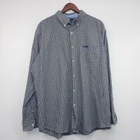 Chaps 1978 Mens Easy Care Shirt Plaid Long  Sleeve Button Down Size XXL