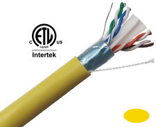 CAT6 Ethernet Cable SOLID COPPER CMP Plenum Shielded Network 1000' C6PSH-2066YL