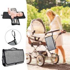 Portable Baby Easy Folding Diaper Travel Changing Pad Waterproof Mat Bag Storage
