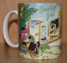 Florida Souvenir Mug~Mickey & Minnie Mouse on the Beach~Applause~@Disney