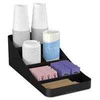 Seven-Compartment Coffee Condiment Organizer, Black (EMSCOMP7BLK)