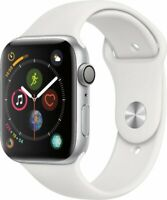 Apple Watch Series 4 GPS w/ 44MM Silver Aluminum Case & White Sport Band