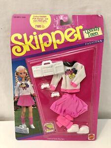 Vintage 1990 Mattel Skipper Doll Clothes Trendy Teen Fashions Barbie Sister NEW