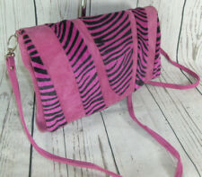 summer Fuchsia Pink Animal Print Large Clutch Cross Body Bag Boho With Tags