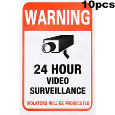 10 Pack CCTV Surveillance Security Camera Video Home Sticker Warning Decal Signs