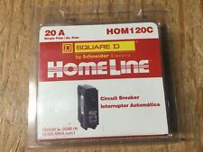 New Homeline Square D 20 A Single Pole Circuit Breaker Hom120C
