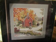 COUNTRY SCHOOLHOUSE ~Bucilla Counted Cross Stitch Kit ~ Made USA