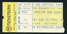 1972 Loggins & Messina concert ticket stub Passaic NJ House At Pooh Corner