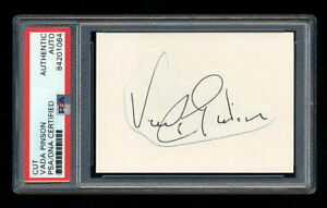 VADA PINSON SIGNED CUT PSA/DNA AUTOGRAPHED CINCINNATI REDS HALL OF FAME ANGELS
