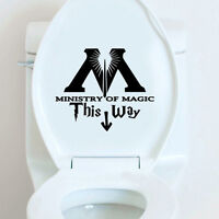 Ministry Of Magic This Way Inspired Toilet Sticker Funny Toilet Restroom AU