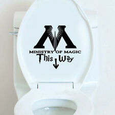 Ministry Of Magic This Way Inspired Toilet Sticker Funny Toilet Restroom New