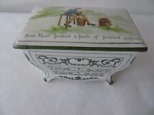 """ROYAL DOULTON Nursery Rhymes COMMODE forma Biscotto Box & COVER DA W. Savage 7 """""""