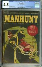 MANHUNT #6 CGC 4.5 OW PAGES