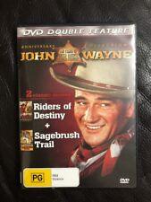 John Wayne RIDERS OF DESTINY & SAGEBRUSH TRAIL Western Double Movies - Region Al