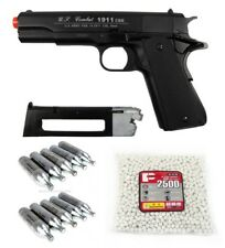 WG WinGun 1911 US Combat CO2 Gas Blowback Airsoft Black Pistol Package Deal