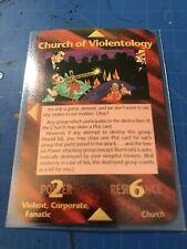 Illuminati New World Order Card Game Assassins Church of Violentology Rare