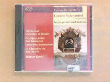 CD RARE / VEPRES / LAZARO VALVASENSI / MARCO ROSSI CONDUCTOR / NEUF CELLO