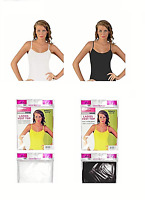 Ladies Girls Women 100% Cotton Top Daisy Trim Vest White Black Sizes M-XL 12-20