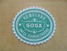 (27955) Siegelmarke - Gemeinde Sosa Amtsh. Schwarzenberg