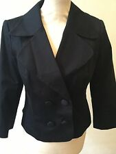 H&M Cotton Button Patternless Coats & Jackets for Women