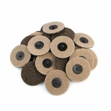 25 Packs 3 Inch Coarse Roloc Roll Lock Type Surface Sanding Conditioning Disc