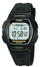 Casio Women's 10 Year Battery Watch, 50 Meter WR, Black Resin,  LW201-1AV