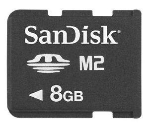 Neu M2 Micro 8 GB Speicherkarte MicroM2 für Sony DSC-TX55