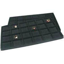 NEW 3 Black 24 Slot Pendant Jewelry Showcase Display Tray Inserts