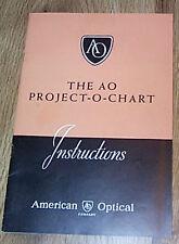 The AO Project-O-Chart Instructions - American Optical  PB ILLUS 1948