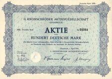 G. kromschröder AG 100dm Osnabrück 1951
